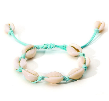 Mint bracelet with shells