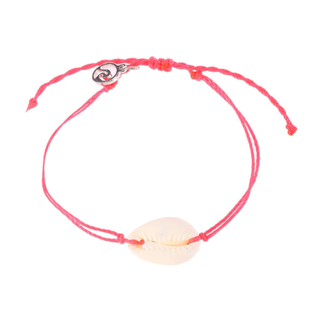 Pink bracelet with shell